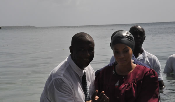 Husband and wife baptism