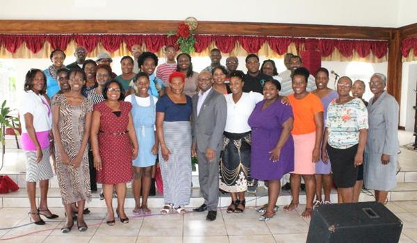 Communications workshop participants
