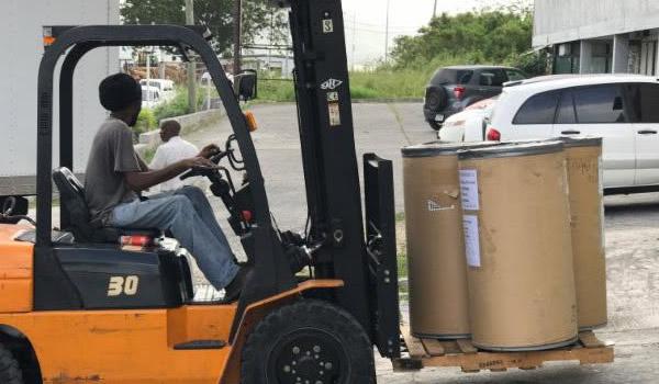 preparing supplies for shipment